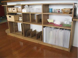 オーダーメイド木製品:本棚